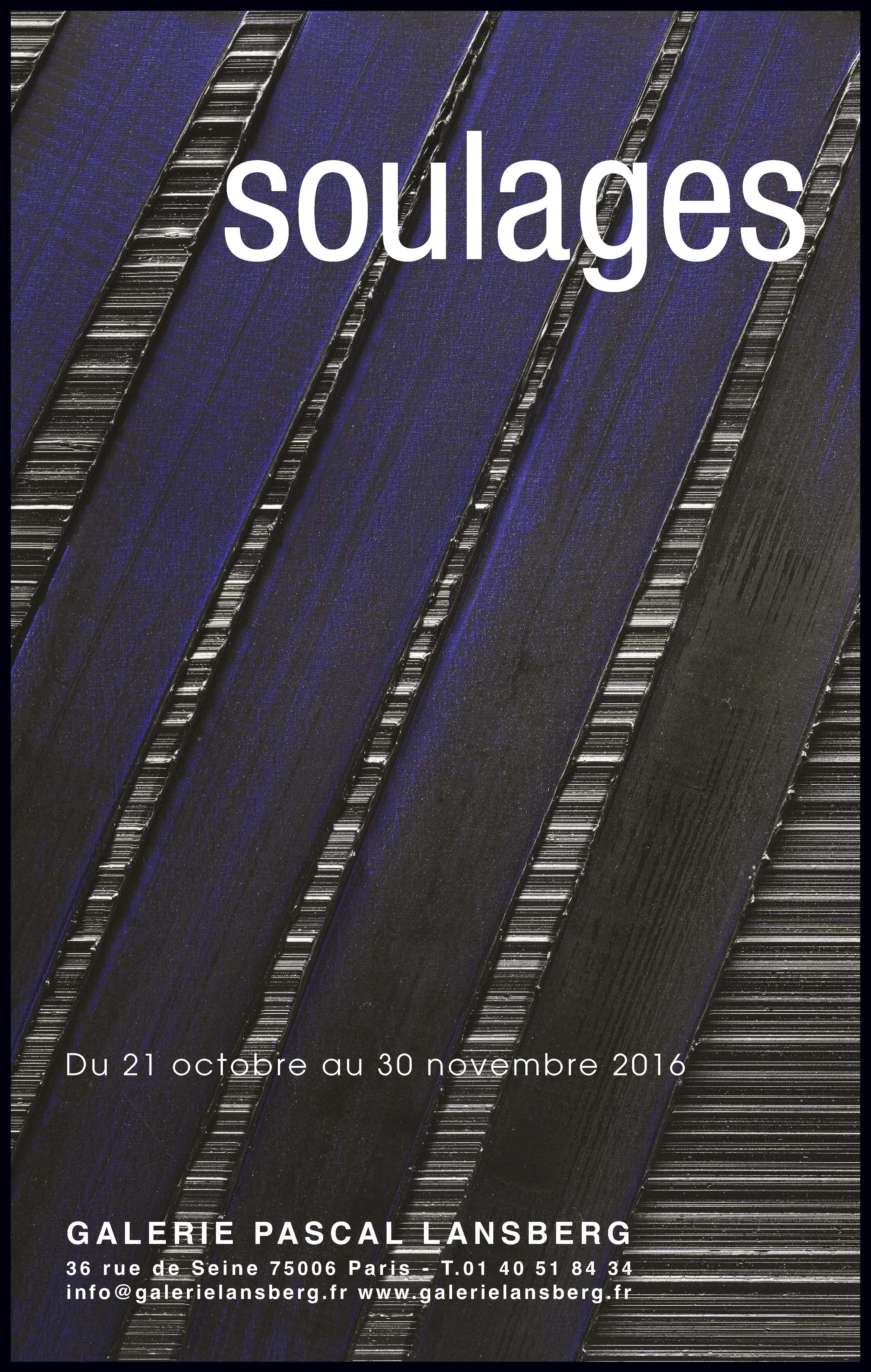 Expositions galerie lansberg for Affiche pierre soulages